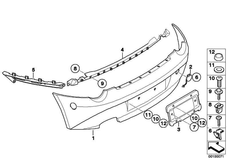 Verkleidung Stossfänger grundiert hinten  Z4  (51127055467)