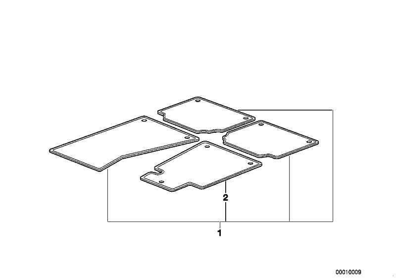 Satz Fussmatten für Gebrauchtwagen ANTHRAZIT       3er  (82519404955)
