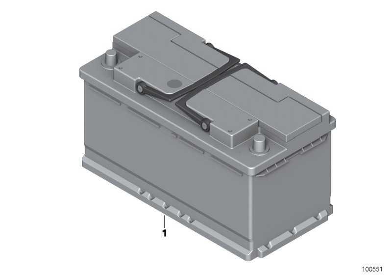 Original MINI Batterie gefüllt 55AH            MINI  (61216927453)