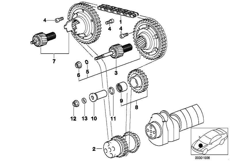 Vanos-Getriebe Einlass  3er Z3  (11361405173)