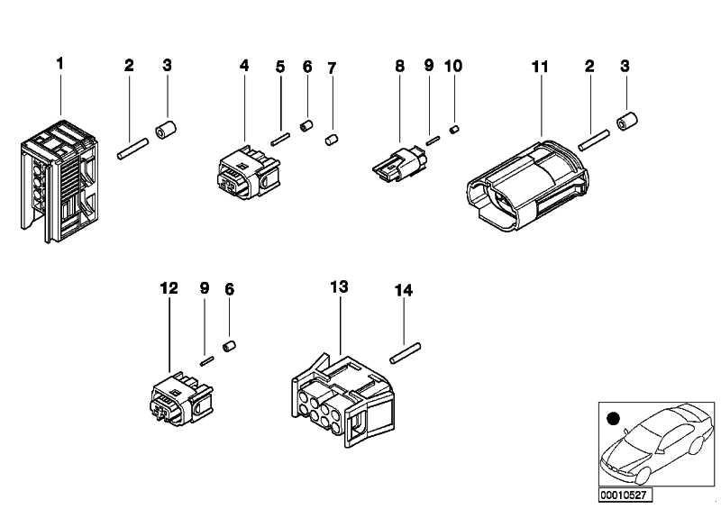 Universal-Buchsengehäuse uncodiert 8 POL.          5er 7er Z4  (61138352576)