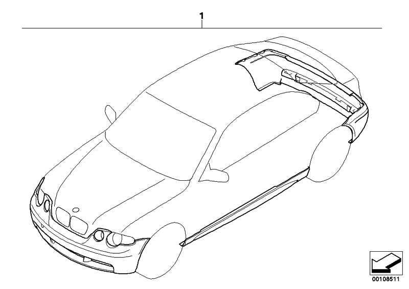 Nachrüstsatz M Aerodynamikpaket GRUNDIERT       3er  (51710149115)