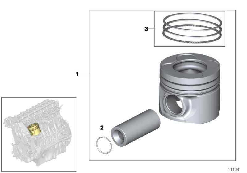 Reparatursatz Kolbenringe (+0,25)         3er X5 5er X3 1er  (11257798884)