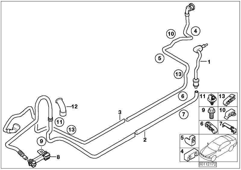 Halter Brems- und Kraftstoffleitung  MINI  (16126757048)
