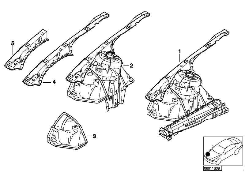 Stützträger Radhaus vorne rechts  3er  (41118234044)