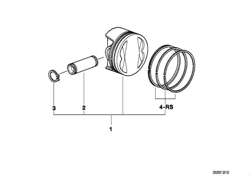 Reparatursatz Kolbenringe D=87,5           (11251342078)