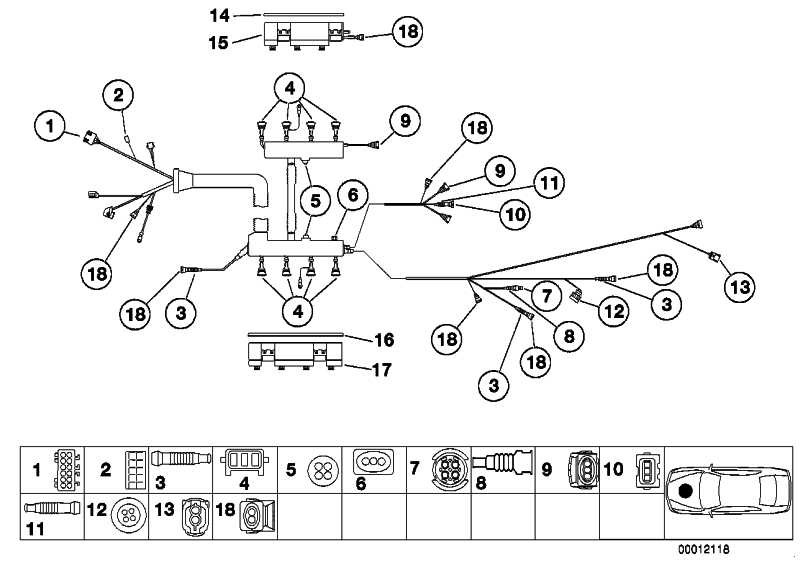 Steckergehäuse schwarz 12 POL.         5er  (61131378136)