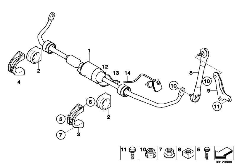 Gummilager Stabilisator  5er 6er 7er  (37126761022)