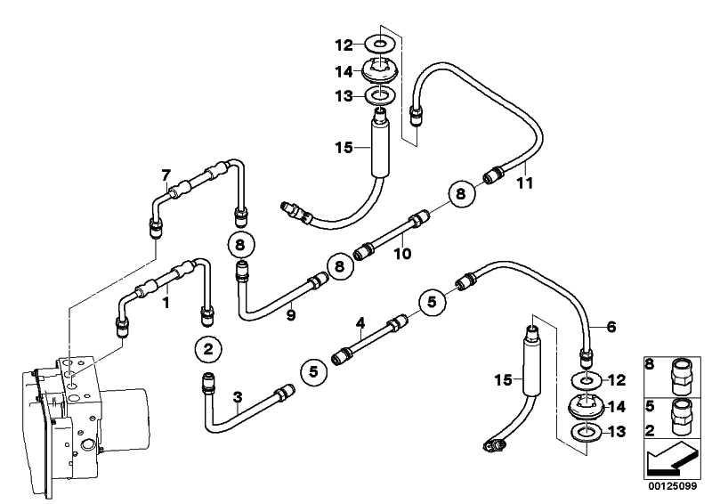 Rohrleitung mit Druckschlauch  5er 6er  (34326767806)