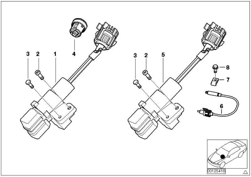 Schliesszylinder mit Code  3er X3 X5 Z4 Z8  (32307197330)