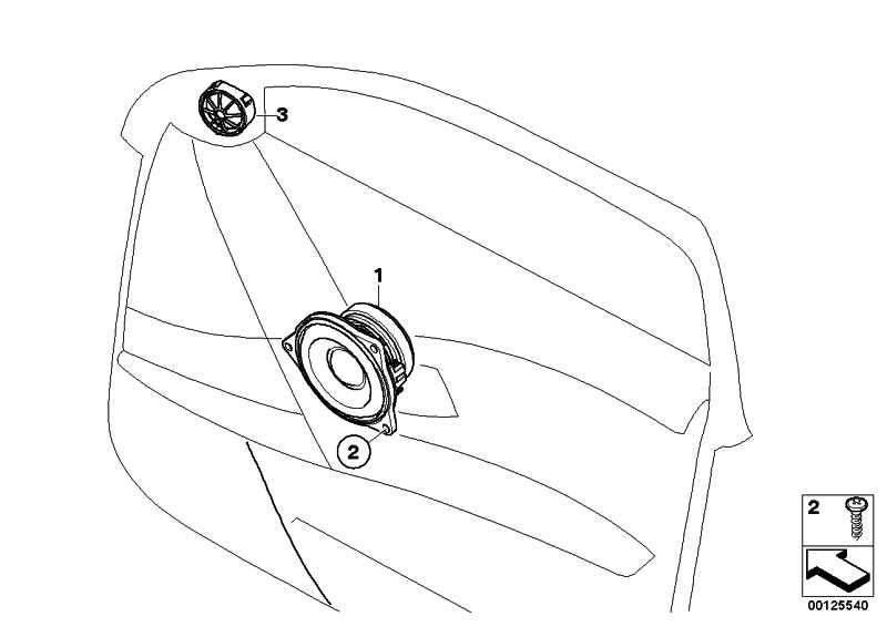 Mitteltonlautsprecher Stereo/HiFi  1er 3er 5er X1 X3 X5 X6  (65139141494)