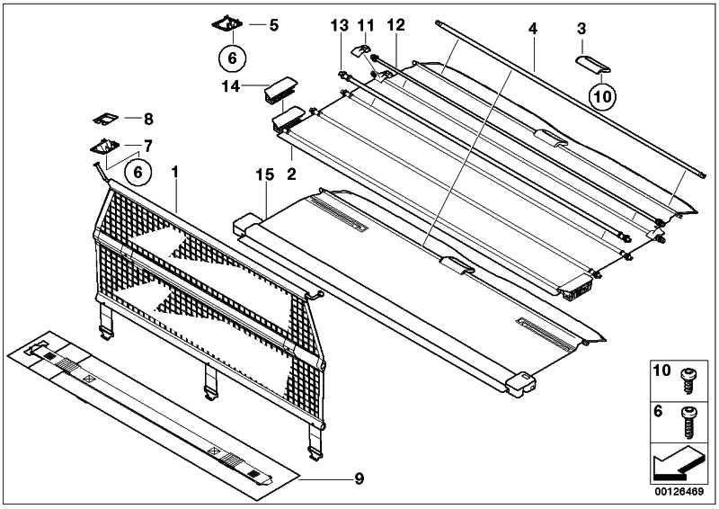 Auszugsrohr Sichtschutzrollo  X5  (51477032586)