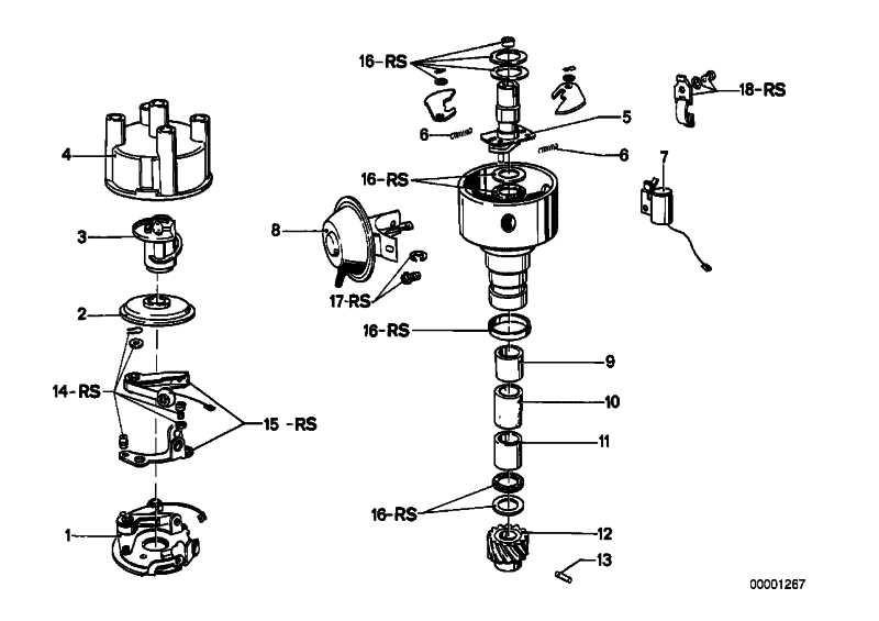 Reparatursatz Zündverteiler-Achse   5er  (12118630239)