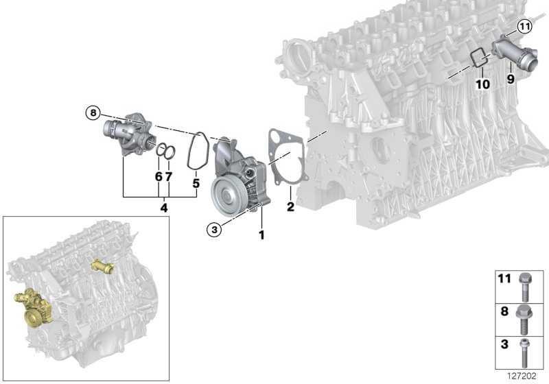 Kühlmittelpumpe mechanisch  1er 3er 5er X3  (11517790471)