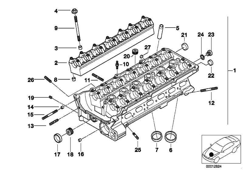 Zylinderkopf mit Lagerleisten  3er 5er 7er X3 X5 Z3 Z4  (11127514540)