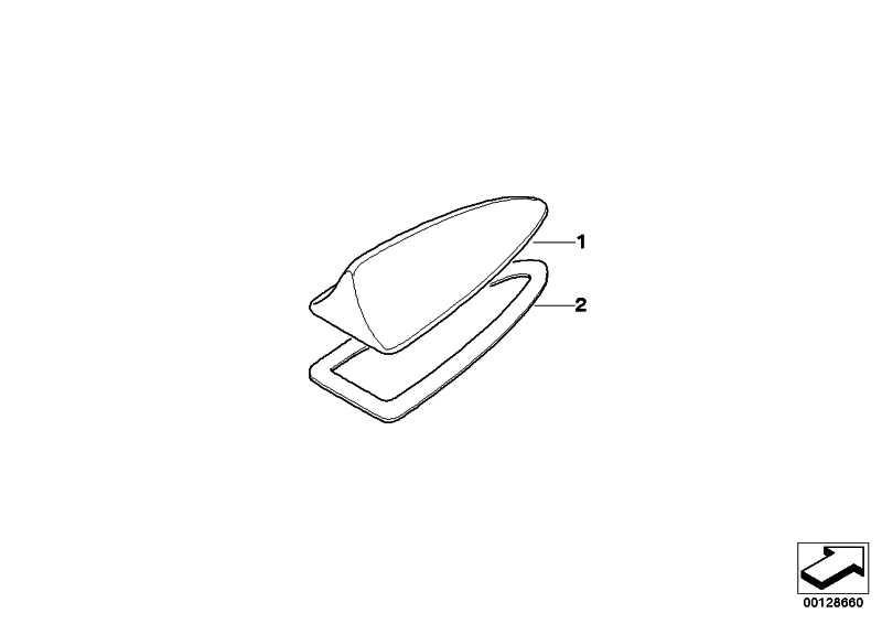 Leergehäuse Dachantenne lackiert CODE-UNI/MET.   X3  (65202147431)