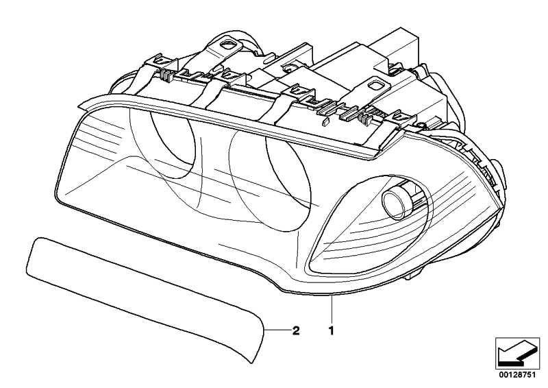 Scheinwerfer Bi-Xenonlicht AHL rechts  X3  (63123456040)