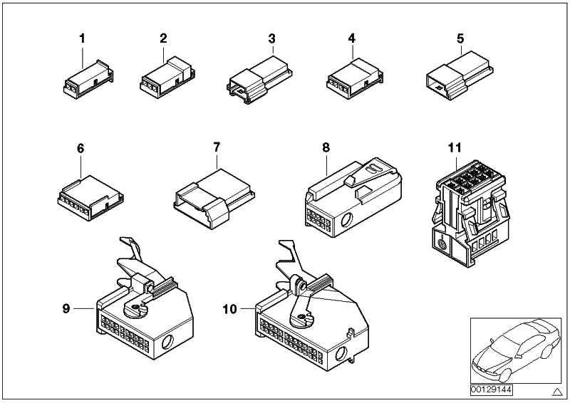 Buchsengehäuse 4 POL. 1er 3er 5er 6er 7er X1 X3 X5 X6 Z3 Z4 Z8 MINI  (61136984750)