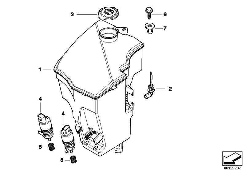 Behälter Scheibenwaschanlage  X3  (61663403211)