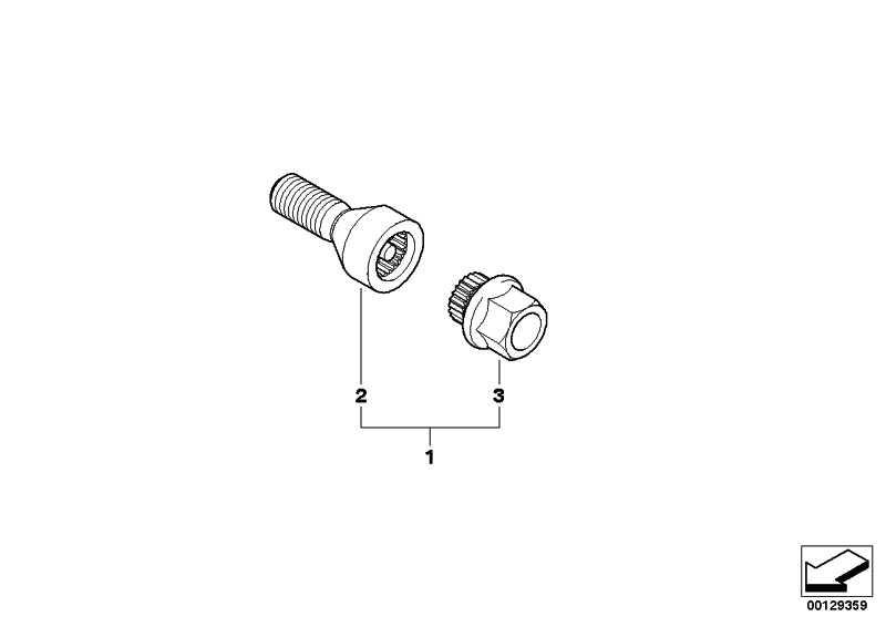 Radschraube mit Code CODE 33 1er 3er 5er 6er Z4 MINI  (36136786478)