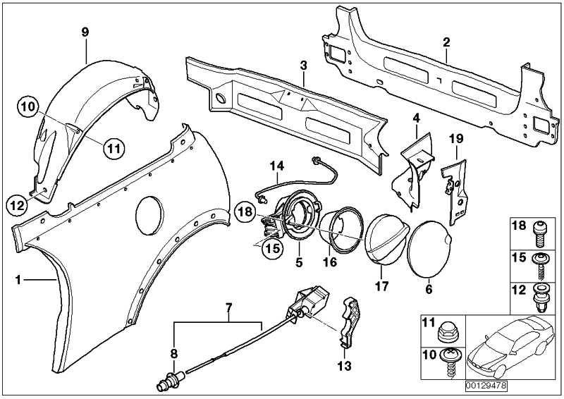 Torxschraube für Kunststoff TS5X20          1er 3er 5er 6er 7er X3 X5 X6 MINI  (51137010365)