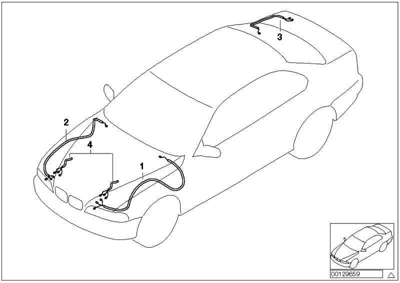 Rep.-Kabelsatz hinten rechts  3er  (61128387186)