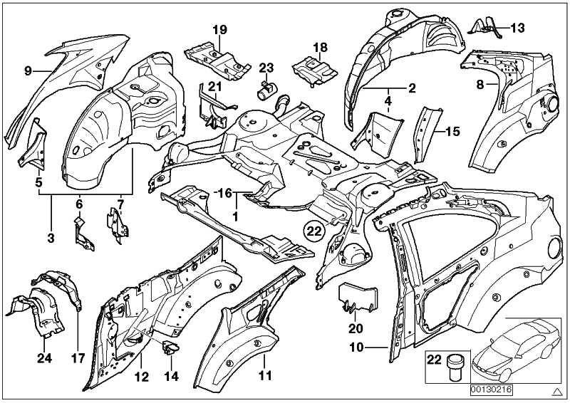 Reparaturteil Einsatz Hinterachsträger  3er  (41117000246)