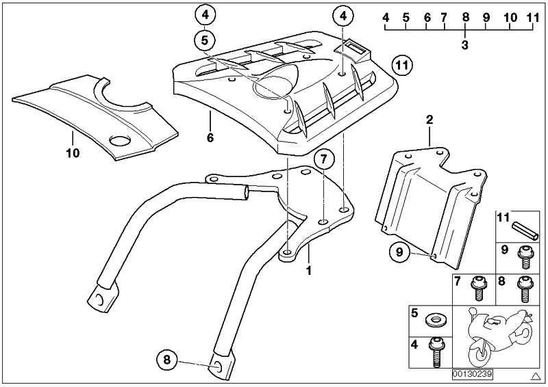 Anbauteile Top Case Halter F650GS/GS-DAKAR  (71607682341)