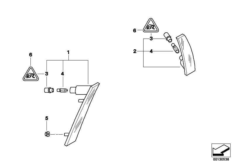 Seitenmarkierungsleuchte vorne rechts  MINI  (63147165870)