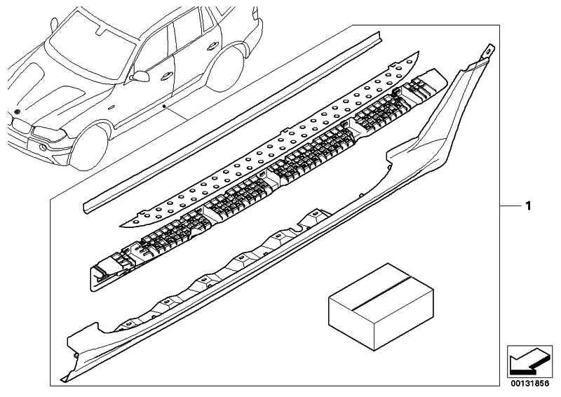 Nachrüstsatz Aluminium-Trittbrett  X3  (51710305705)