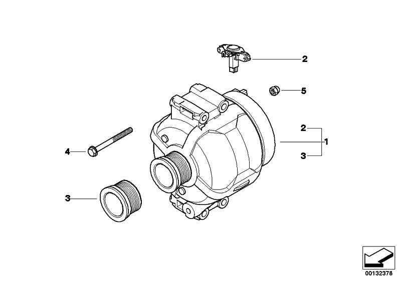 Austausch Generator  1er 3er  (12318517262)