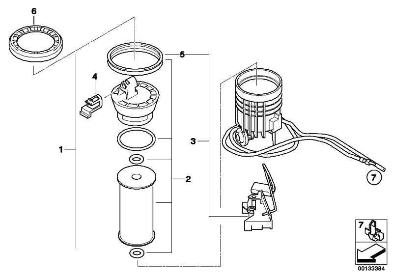 Kraftstofffiltereinsatz  MINI  (16146757196)