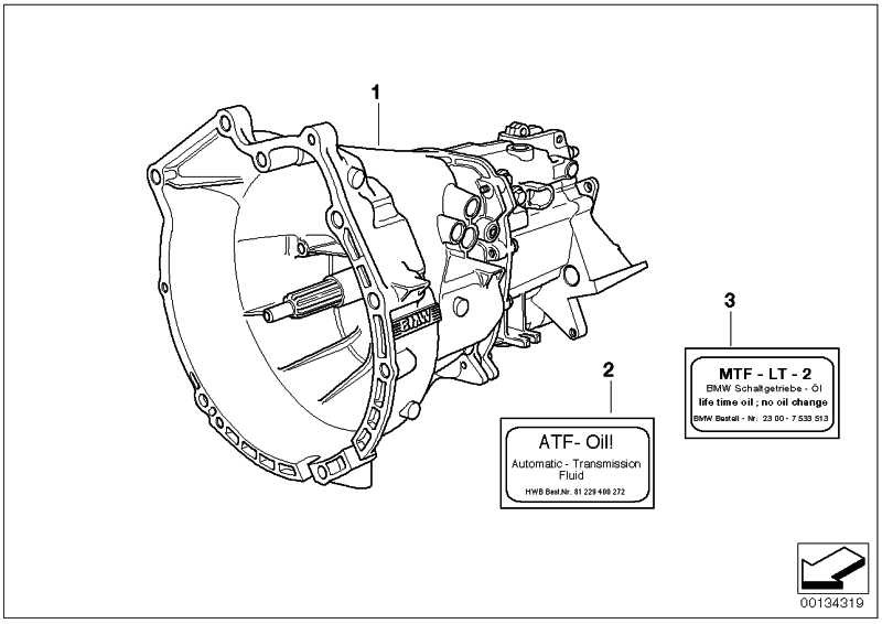 Aufkleber Getriebeöl MTF-LT-2        1er 3er 5er 6er 7er 8er X3 X5 Z3 Z4 Z8  (23007533514)