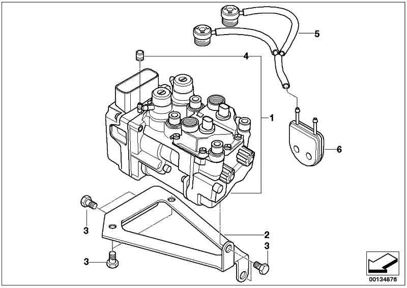 Druckmodulator Teilintegral ABS   (34517685790)