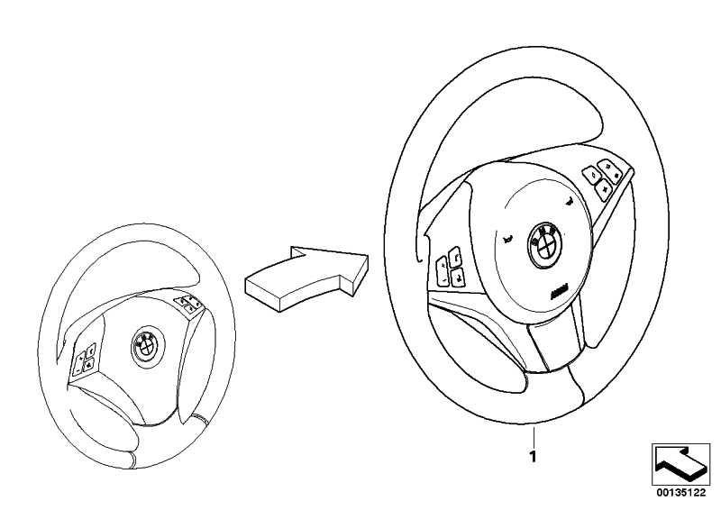 Sportlenkrad Airbag Leder Multifunktion RUTHENIUM       5er  (32340309522)
