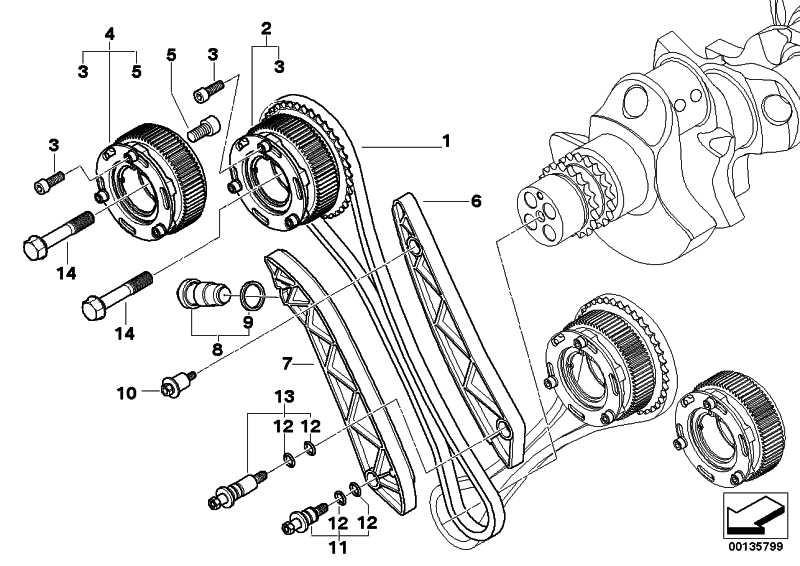 Vanos-Getriebe Einlass  5er 6er  (11367835343)
