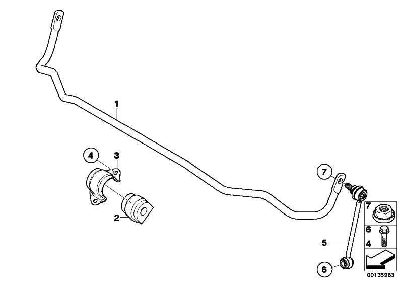 Stabilisator hinten D=12MM          1er 3er  (33556764424)