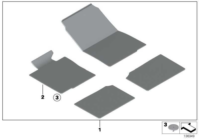 Fussmatte Velours Fahrerseite PANTHER BLACK   MINI  (51476964435)