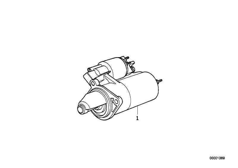 Austausch Anlasser 1,4KW 3er 5er Z1  (12411726508)