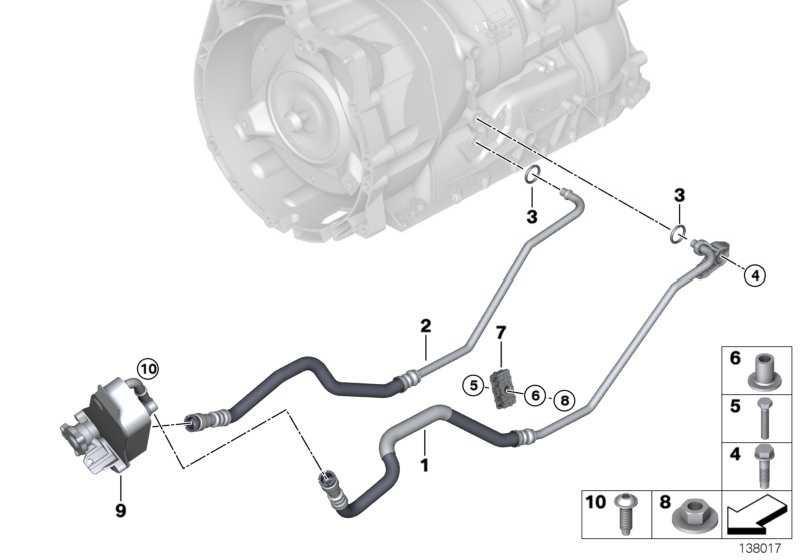 Ölkühlerleitung Rücklauf  3er 1er X1  (17228509701)