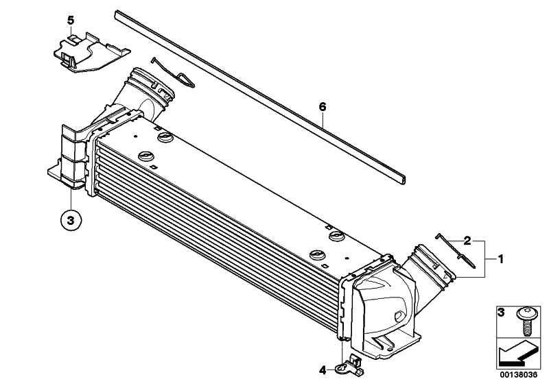 Ladeluftkühler  1er 3er X1  (17517524916)