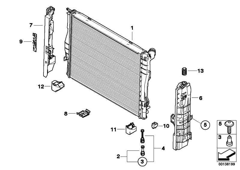Halter Wasserkühler  1er 3er X1 Z4  (17117590119)
