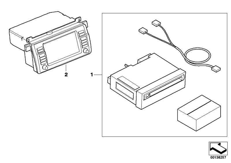 Bordmonitor Wide Screen mit CD E46             3er  (65526971855)