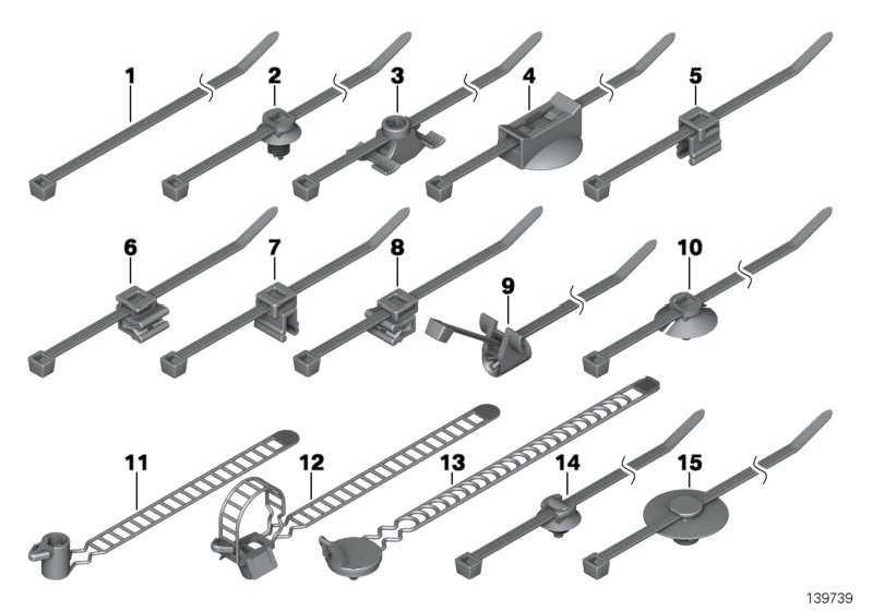 Kabelband mit Halter Ø=16,5 / L=200  1er 3er 5er 6er 7er X1 X3 X5 X6 Z3 Z4 Z8  (61136933279)