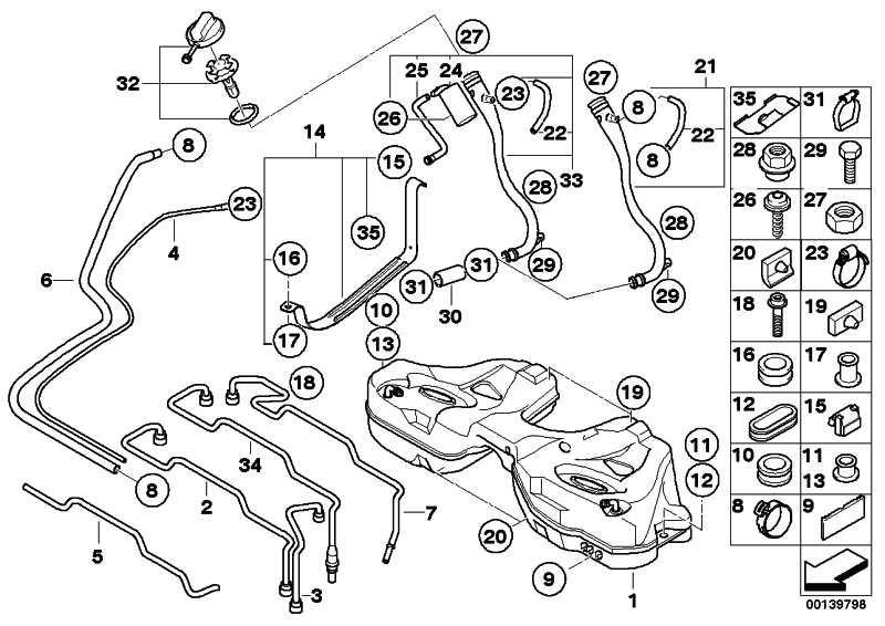 Kraftstoffrücklauf-/Vorlaufleitung  7er  (16116752841)