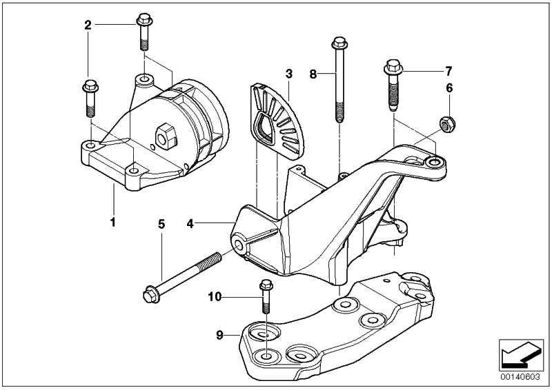Getriebelagerbock mit Gummilager  MINI  (22316754418)