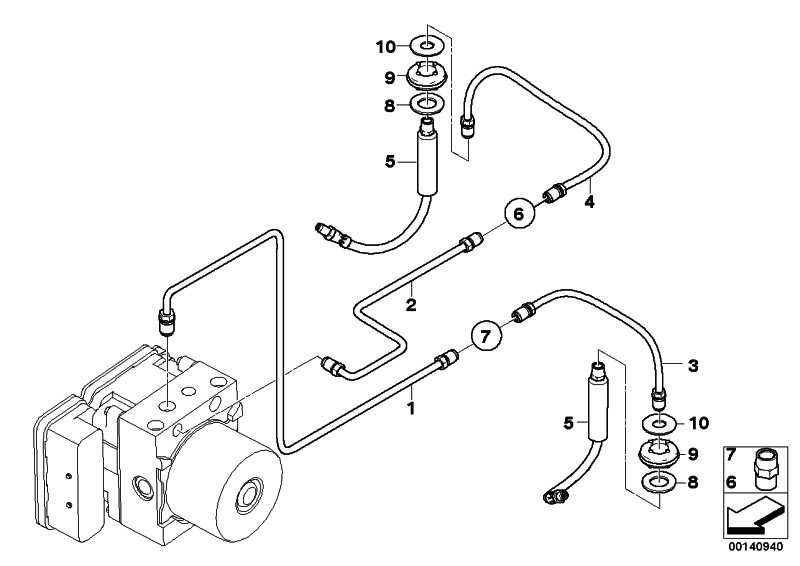 Rohrleitung M10/M10         5er  (34326772504)