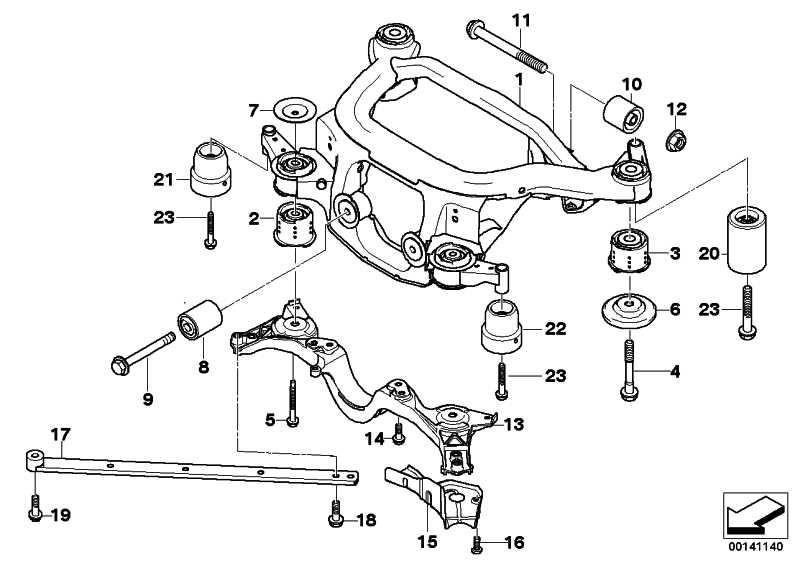 Gummilager hinten  X3 Z4  (33173449082)