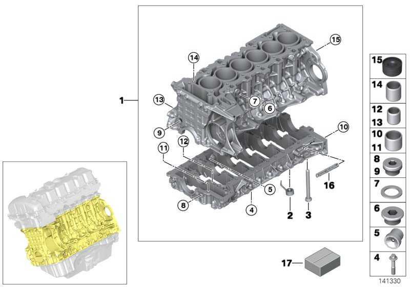Zylinder-Kurbelgehäuse mit Kolben  1er 3er 5er 6er X3 X5 X6  (11112161561)