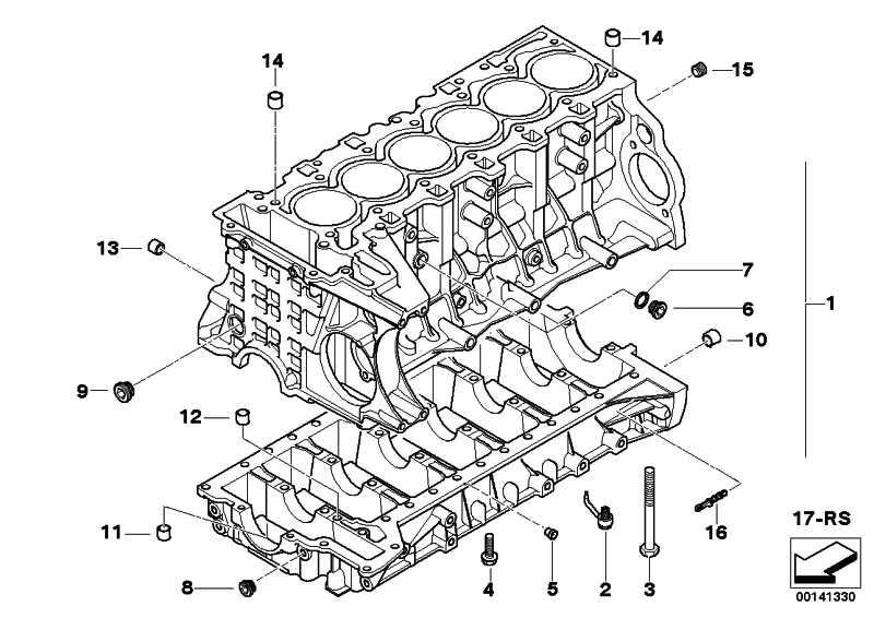 Zylinder-Kurbelgehäuse mit Kolben N52B25A 3er 5er X3 Z4  (11110401123)